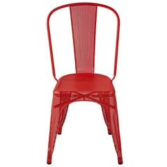 A-Chair Perforated in True Red by Xavier Pauchard & Tolix