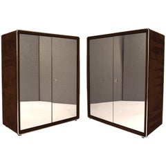 Amazing and Rare Wardrobes by RUF International Covered with Plush, 1970s
