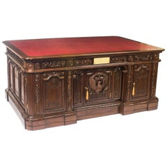 Monumental US Presidents Resolute Partners Desk, 20th Century