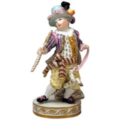 Meissen Boy Riding on Hobbyhorse by Christian Juechtzer Model E 94, circa 1860