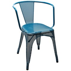 A97 Armchair Perforated in Ocean Blue by Chantal Andriot & Tolix