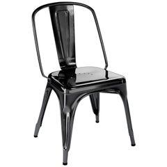 AC Chair in Glossy Black by Xavier Pauchard & Tolix