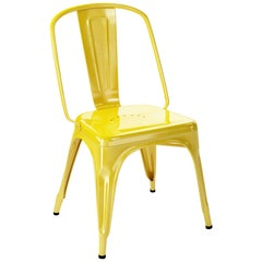 AC Chair in Glossy Yellow by Xavier Pauchard & Tolix