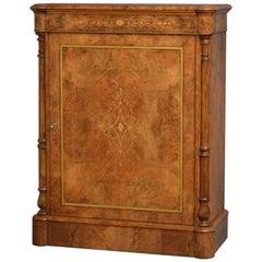 Victorian Walnut Pier Cabinet, Side Cabinet