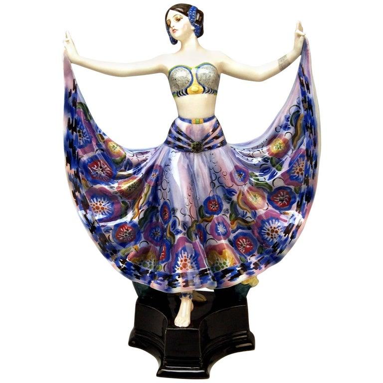 Goldscheider Vienna Lady Dancer Ruth by Rosé Model 4141, Made circa 1925 For Sale