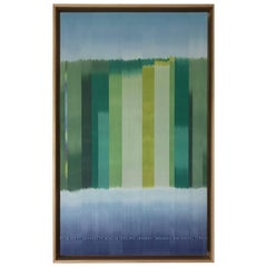 """Landmarks: from Sea to Selvedge to Horizon"" a Woven Painting in Hand Dyed Silk"