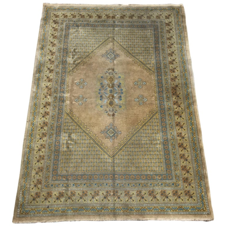 Antique Moroccan Rabat Rug For Sale At 1stdibs