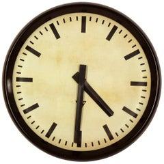 Large Bakelite Railway Clock from Pragotron, 1950s