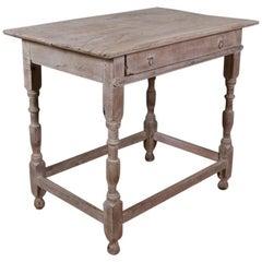 Bleached Oak Lamp Table