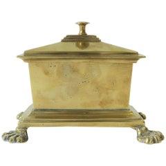 Regency Brass Box with Lion Paw Feet