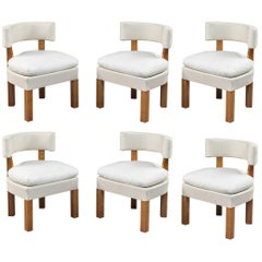 Set of Six Low Chairs by André Lurcat, circa 1927