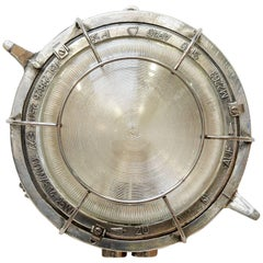"Industrial Circular Wall Light, Fence ""Six Branches"", circa 1950"