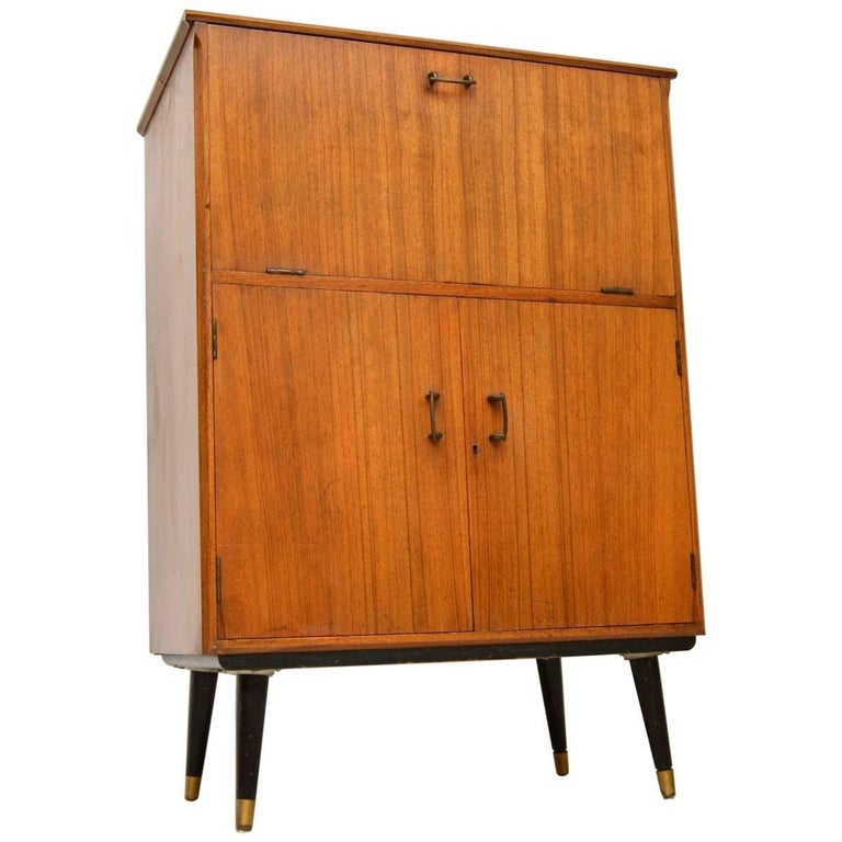 1950s Vintage Walnut Drinks Cabinet