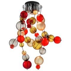 "Murano Glass Chandelier ""Circo di Lune"" by M. Guggisberg & P. Baldwin for Venini"