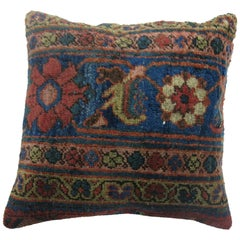 Antique Persian Mahal Shabby Chic Border Rug Pillow