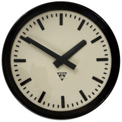 Bakelite Industrial Factory or Train Station Wall Clock from the 1940s