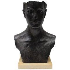 Iron Bust Sculpture