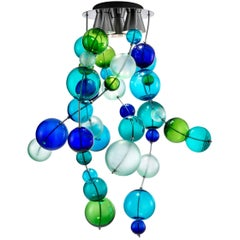 "Murano Glass Chandelier ""Circo di Lune"" by M. Guggisberg & P. Baldwin for Venini"