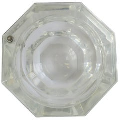 Modern Lucite Octagonal Ice Bucket or Box, circa 1970s