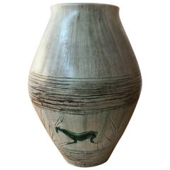 Vallauris Vase Signed by Yoal