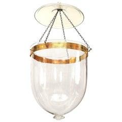 English Georgian Style Clear Glass Hanging Lantern