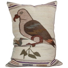 Mexican Indian Weaving Bird Pillow