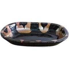 Shoji Hamada Glazed Dish with Original Signed Box