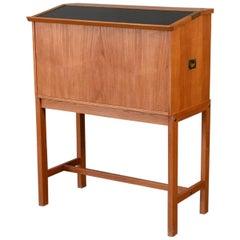 Drop Front Teak Bar Cabinet by Dyrlund