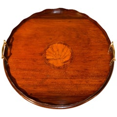 19th Century English Inlaid Tray