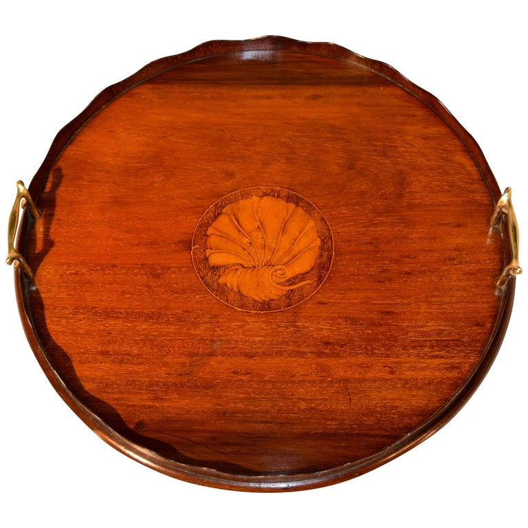 19th Century English Inlaid Tray