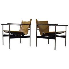 Pair of Charles Pollock for Knoll Lounge Chairs
