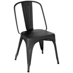 AC Chair in Textured Matte Black by Xavier Pauchard & Tolix