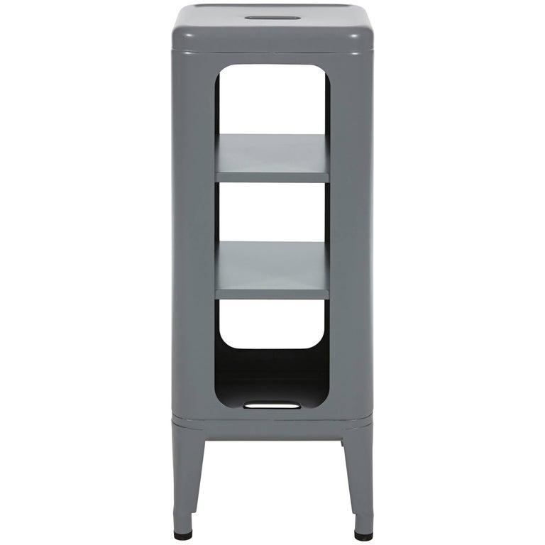Stool Shelf 750 in Grey by Frederic Gaunet & Tolix