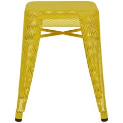 H Stool Perforated 45 in Yellow by Chantal Andriot and Tolix