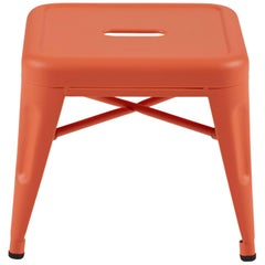 H Stool 30 in Tendance Coral by Chantal Andriot and Tolix