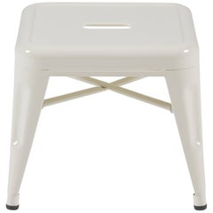 H Stool 30 in Glossy Ivory by Chantal Andriot and Tolix