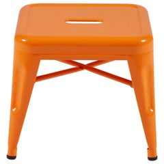 H Stool 30 in Glossy Orange by Chantal Andriot and Tolix
