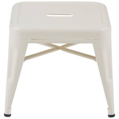 H Stool 30 in Matte Ivory by Chantal Andriot and Tolix