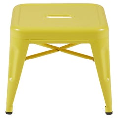 H Stool 30 in Matte Yellow by Chantal Andriot and Tolix