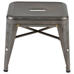 H Stool 30 in Steel with Glossy Lacquer by Chantal Andriot & Tolix