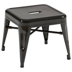 H Stool 30 in Steel with Satin Lacquer by Chantal Andriot and Tolix