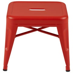 H Stool 30 in Textured Matte Red-Orange by Chantal Andriot and Tolix