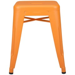 H Stool 45 in Orange by Chantal Andriot & Tolix