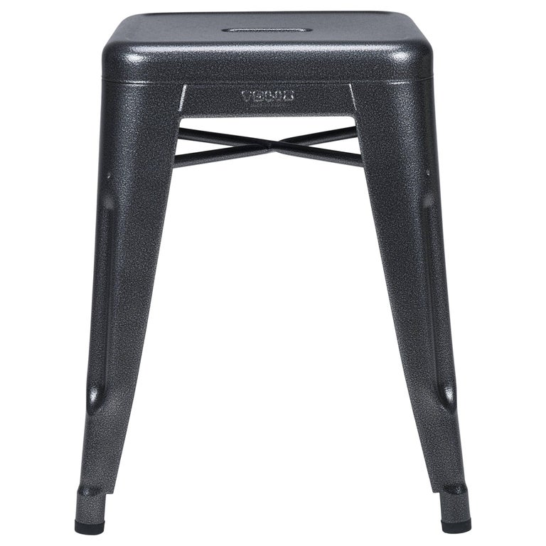 H Stool 45 In Speckled Grey By Chantal Andriot And Tolix