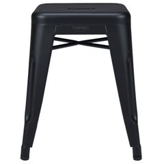 H Stool 45 in Textured Matte Black by Chantal Andriot & Tolix