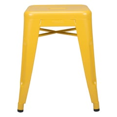 H Stool 45 in Yellow by Chantal Andriot and Tolix