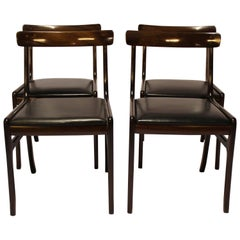 "Set of Four ""Rungstedlund"" Dining Room Chairs, Ole Wanscher and P. Jeppesen"