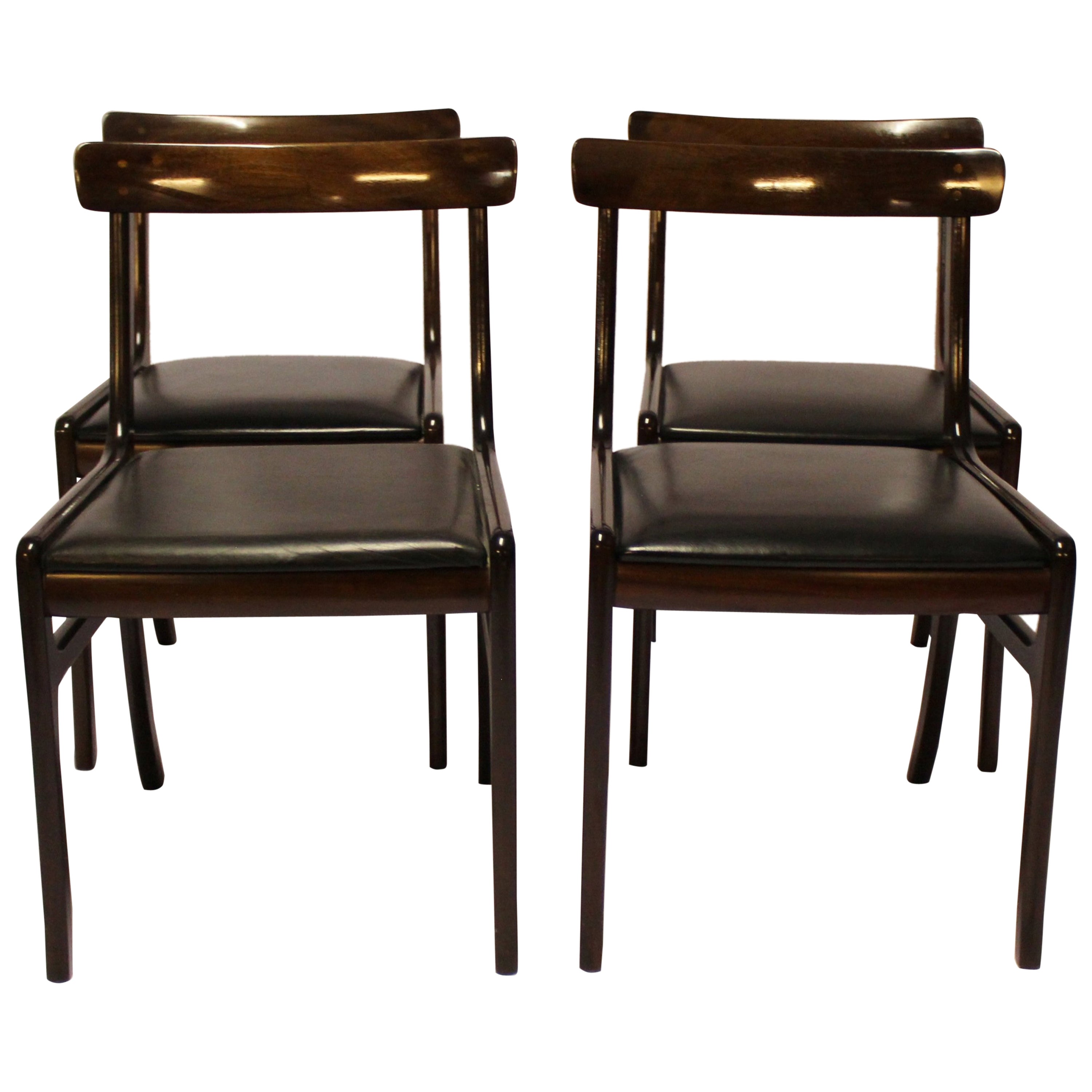 """Set of Four """"Rungstedlund"""" Dining Room Chairs, Ole Wanscher and P. Jeppesen"""