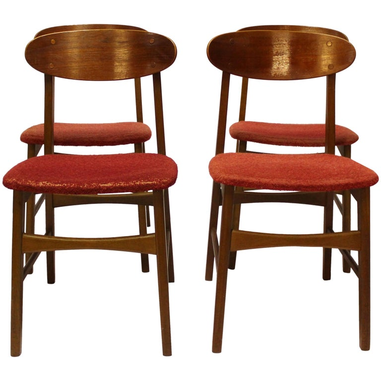 Set of Four Dining Room Chairs in Teak, of Danish Design, 1960s