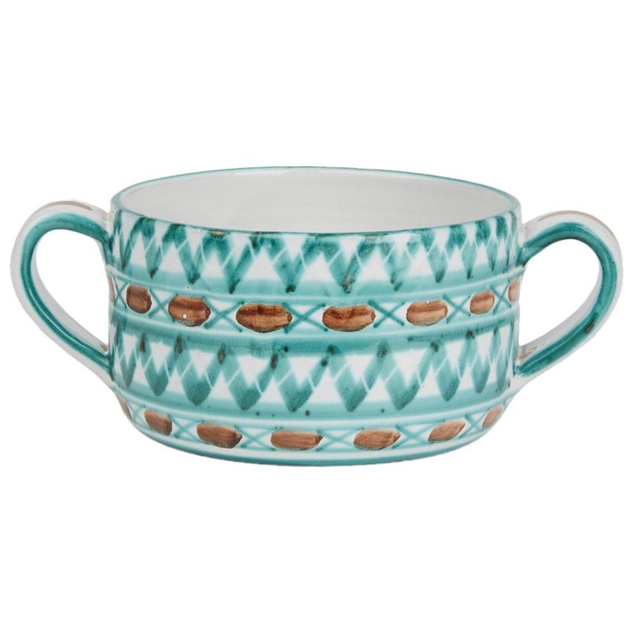 Vintage Robert Picault Vallauris Art Pottery Serving Bowl, 1950s